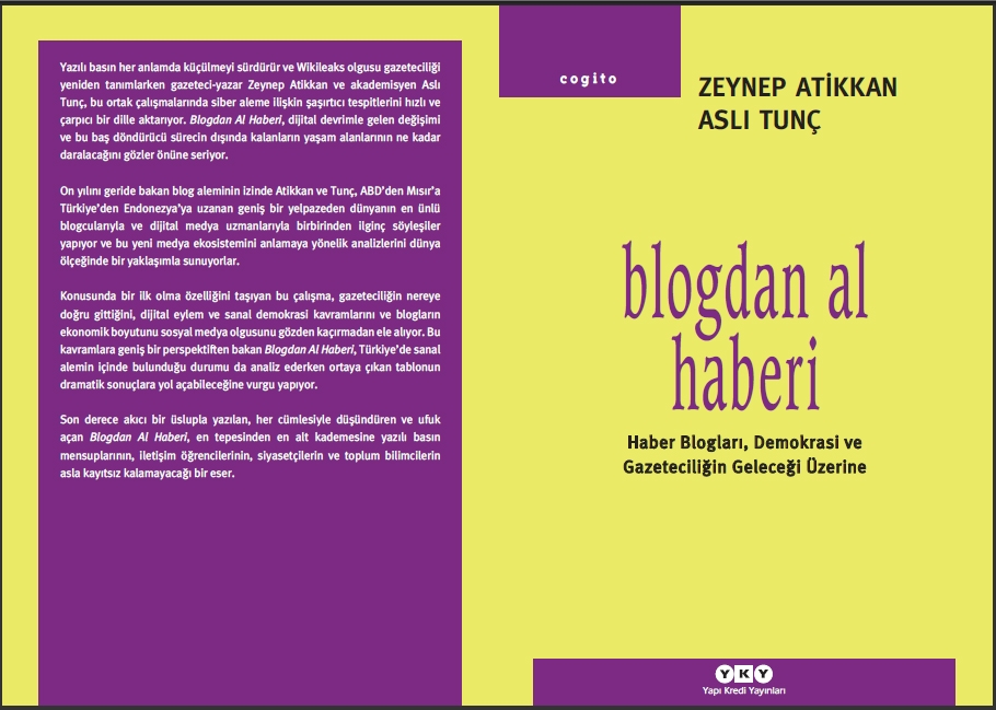 """ZEYNEP ATİKKAN'DAN """"BLOG'DAN AL HABERİ"""""""